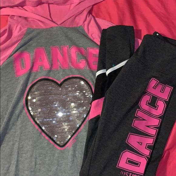 JUSTICE Girls Dance Emoji Shirt 12 14 16 NEW